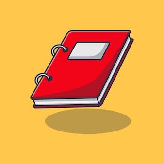 Imprimer la conception d'illustration de cahier de reliure rouge