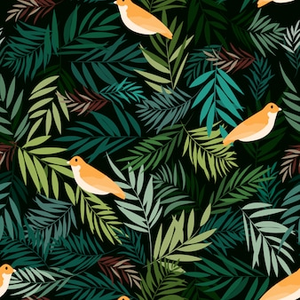 Imprimer jungle oiseau jaune