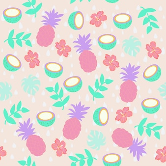 Imprimer le motif de l'ananas