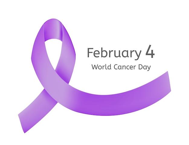 Imprimer un ruban violet pour la lutte contre le cancer