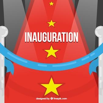 Inauguration avec tapis rouge et étoiles
