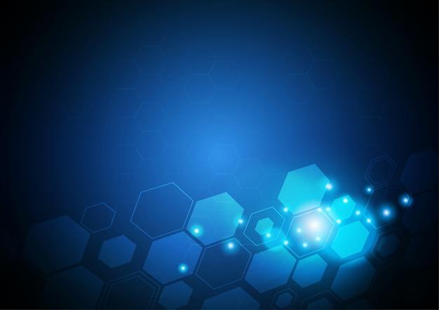 Inclinaison hexagonale, concept de vecteur de technologie.