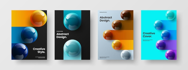 Incroyable collection de concepts d'affiches d'orbes réalistes
