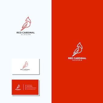 Incroyable logo cardinal d'art en ligne et cartes de visite