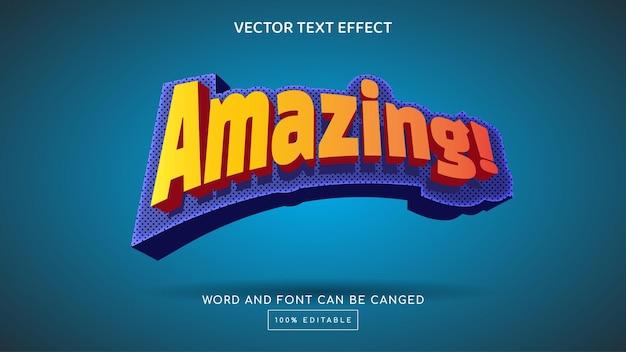 Incroyable modèle d'effet de texte modifiable en 3d