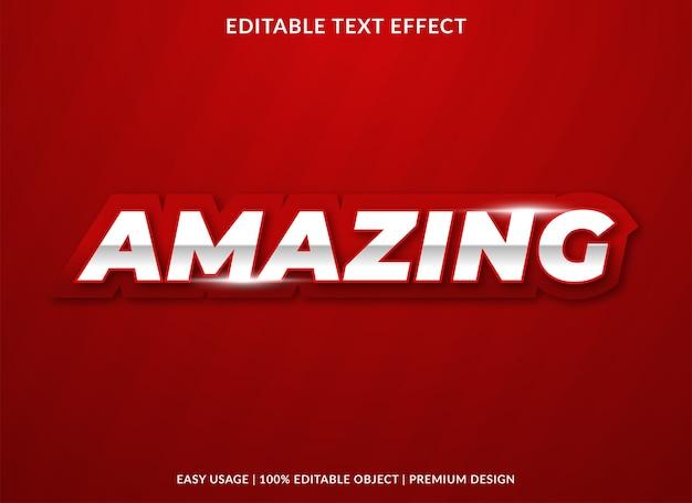 Incroyable style premium de modèle d'effet de texte en gras