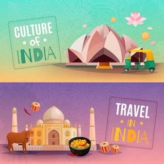 Inde bannières horizontales