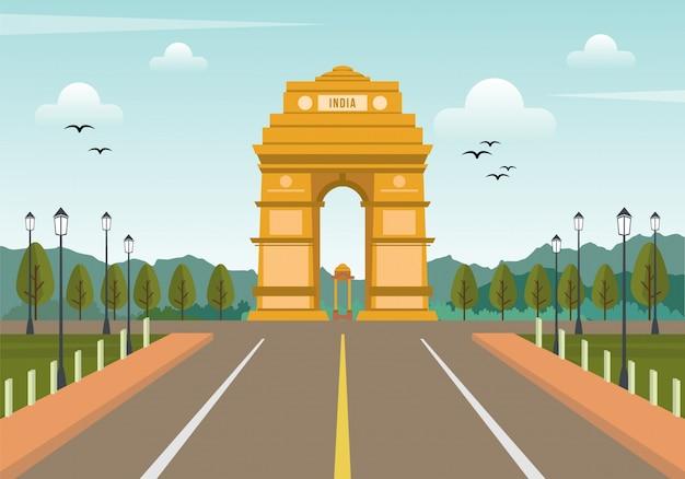 Inde fond d'arc de triomphe