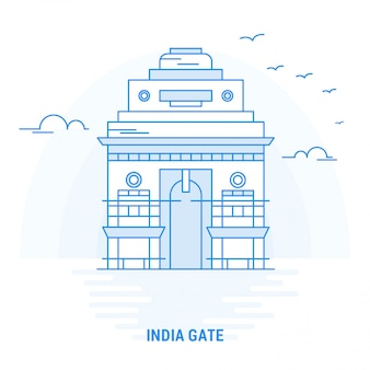 Inde gate blue landmark