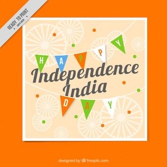 Inde indépendance jour carte de voeux