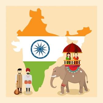 Inde et peuple indien