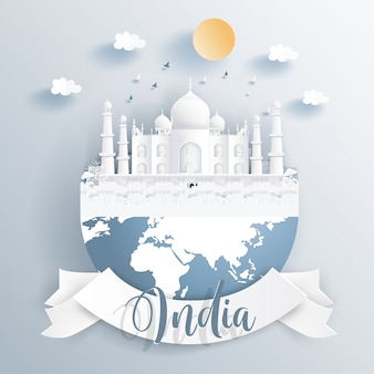 Inde points de repère sur la terre