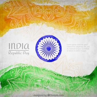 Inde république drapeau day background