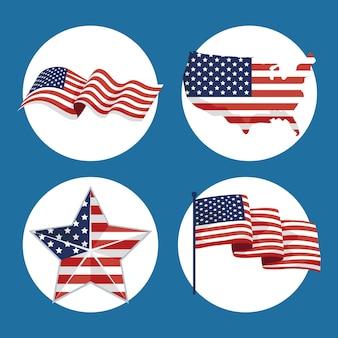 L'indépendance des états-unis a défini quatre éléments