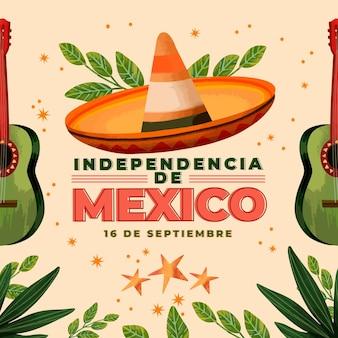 Independencia de méxico dessiné à la main