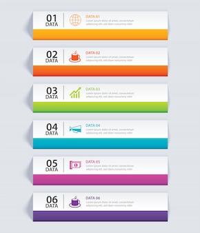Index papier infographie avec 6 modèles de données.