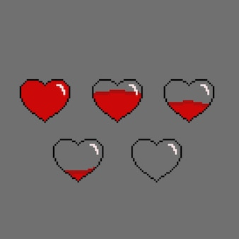 Indicateur de santé avec style pixel art