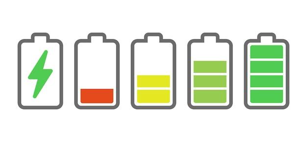 Indicateurs de charge de la batterie.