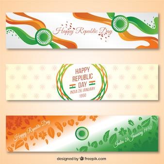 Indiennes bannières jour république