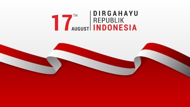 Indonésie indépendance daybackground illustration image vectorielle modifiable