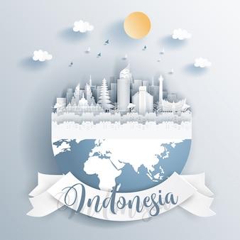 Indonésie points de repère sur la terre