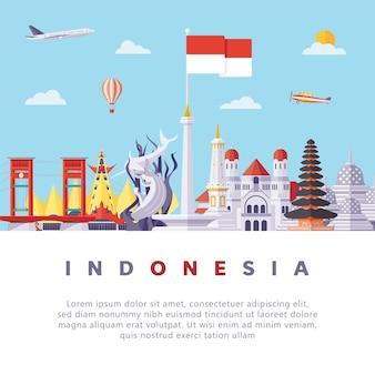 Indonésie repères plat