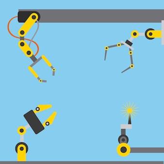 Industrie automobile bras robotisés différentes options