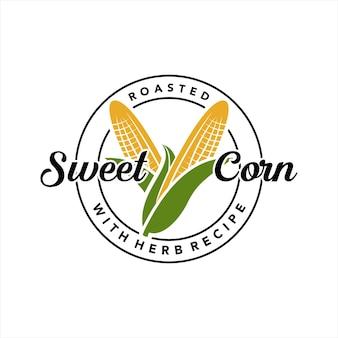 Industrie du timbre de logo de maïs sucré simple
