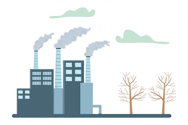 Industrie avec fenêtres et cheminées