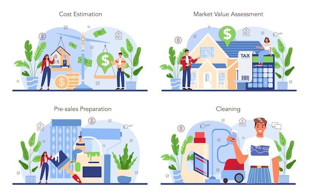 L'industrie de l'immobilier a mis en place l'assistance des agents immobiliers et l'aide à la propriété