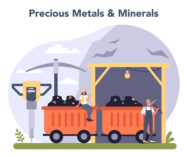 Industrie des métaux et minéraux precios