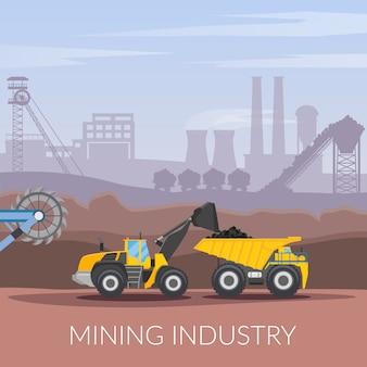 Industrie minière composition à plat