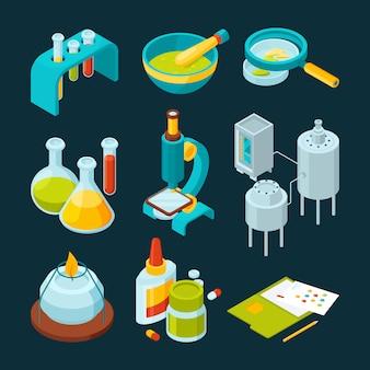 Industrie pharmaceutique et chimique isométrique