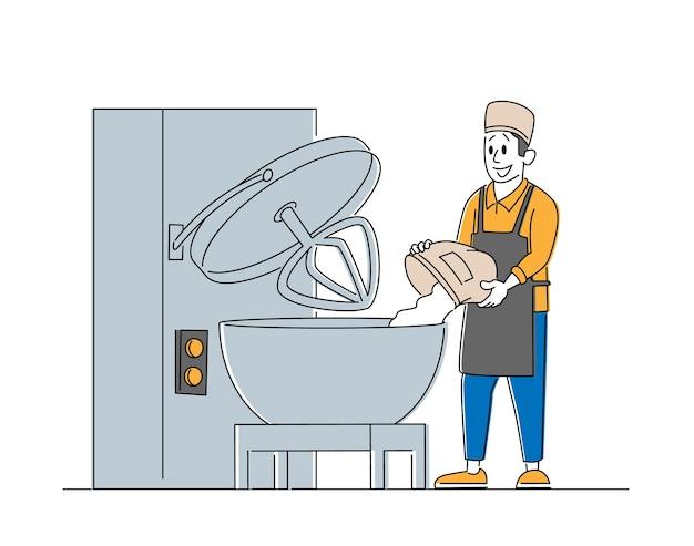Industrie de la production d'aliments cuits au four et processus de fabrication
