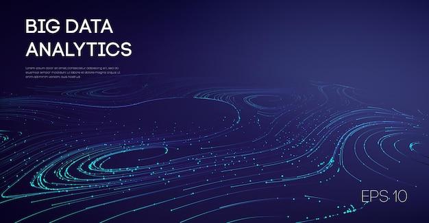 Les industries de flux de données fabriquant l'industrie des technologies légères cyber. logiciel code agile industriel internet icône son visulisation automatisation industries galaxie animation.