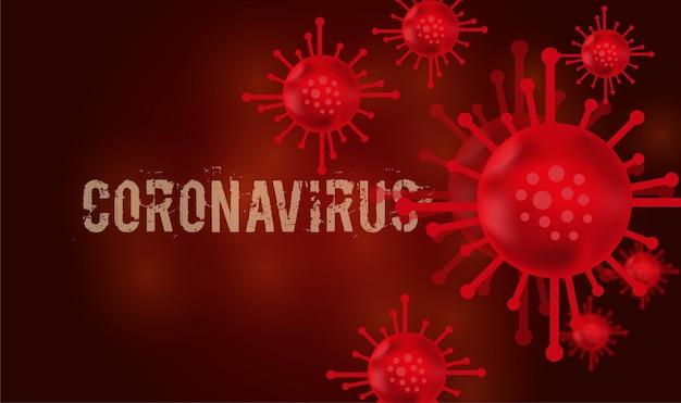 Infection à coronavirus et fond de concept de bactéries