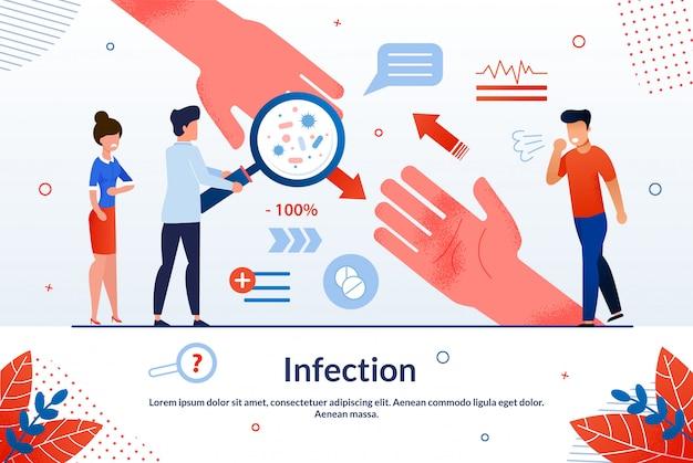 Infection traitement d'urgence des personnes infectées