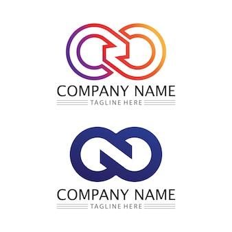 Infinity design vector icon illustration création de modèle de logo