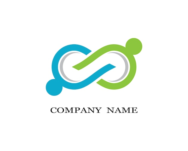 Infinity logo template vector icon illustration design