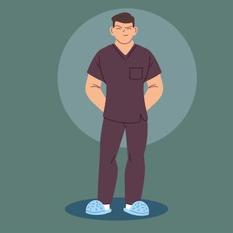 Infirmier en uniforme, agent de santé