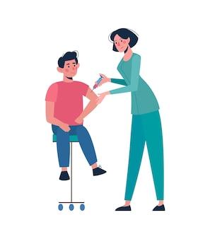 Une infirmière administre un vaccin à un enfant