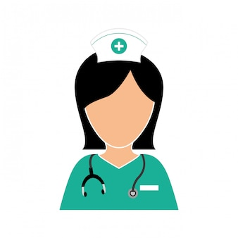 Infirmière avec design icône stéthoscope