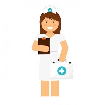 Infirmière avec prescription icône image