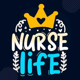 Infirmière vie infirmière citation vecteur premium