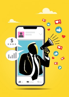 Influence marketing illustration