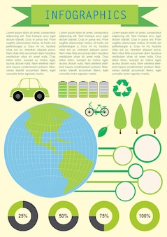 Infochart montrant la planète terre