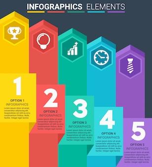 INFOGRAPHICS element design the number top cinq