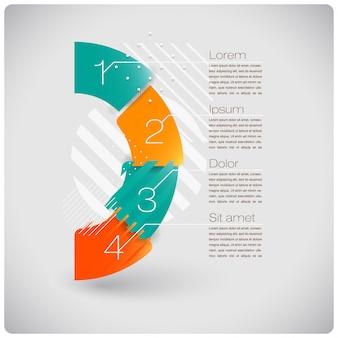 Infographie abstraite de formes modernes