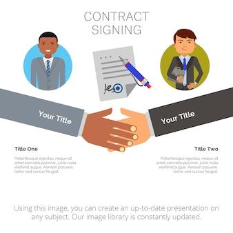 Infographie d'affaires avec deux éléments