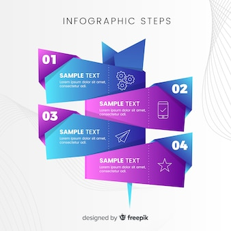 Infographie des affaires avec des étapes